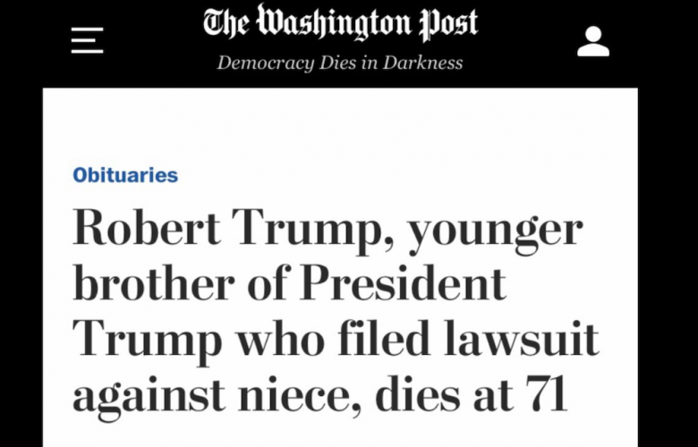 Media Publish Kinder Obituary Of Terrorist Than Of The President's Brother