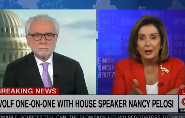 Nancy Pelosi Accuses CNN's Wolf Blitzer Of Being A GOP 'Apologist'