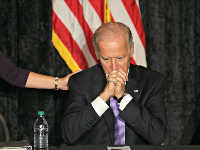 DAVIE, FL - SEPTEMBER 03: U.S. Vice President Joe Biden speaks as he meets with Jewish community leaders at the David Posnack Jewish Community Center to discuss the nuclear deal reached with Iran on September 3, 2015 in Davie, Florida. President Barack Obama on Wednesday secured enough votes to put …